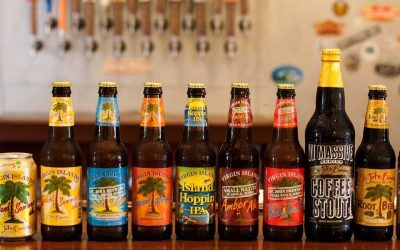 St John Brewers local craft beers, sodas and energy drink