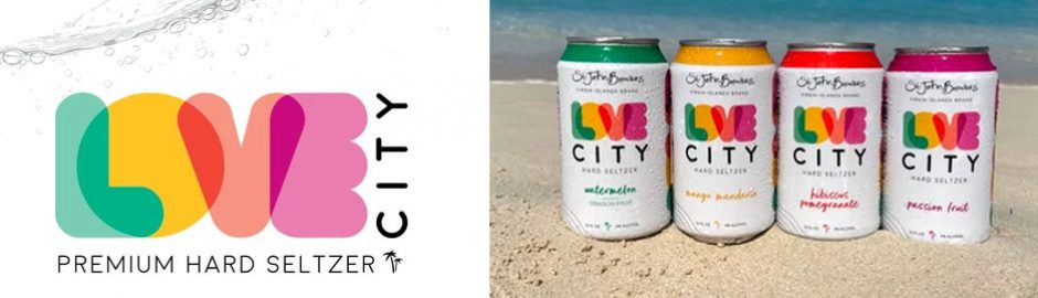 Love City Hard Seltzers from St John Brewers US Virgin Islands
