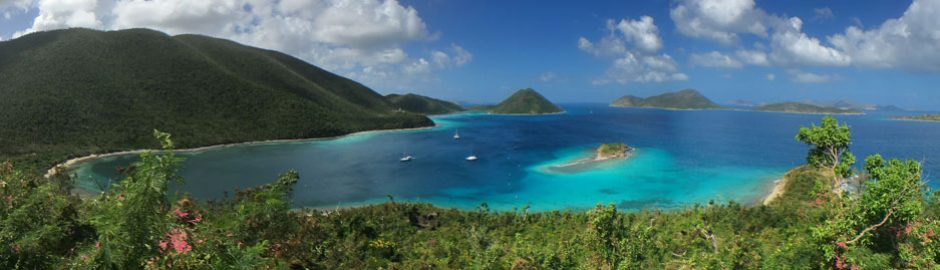 View from The Murphy Great House overlooking Waterlemon Cay, St John, US Virgin Islands